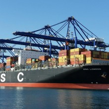 MSC LONDON operating at PCT Aug 2014
